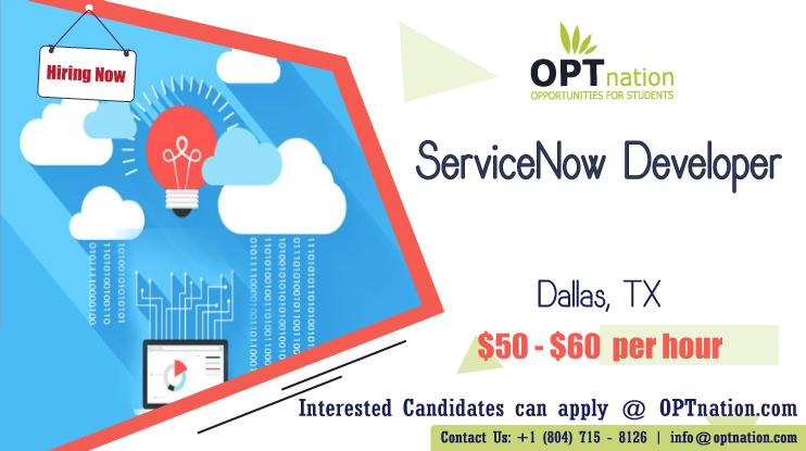 We're Hiring ServiceNow Developer in Dallas, TX. Build