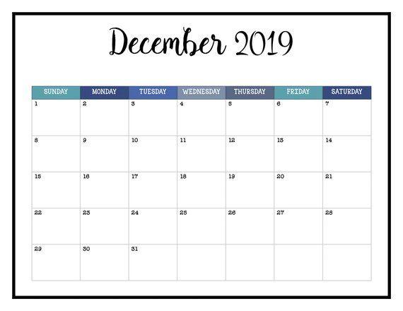 2019 PRINTABLE Calendar / 2019 Wall Calendar Pages Crazy