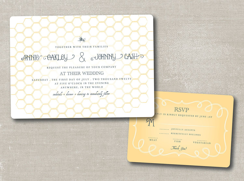 honey honey . printable wedding invitation suite. $75.00, via Etsy ...