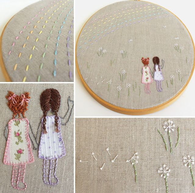 Cutesy Crafts: Embroidery Hoop Art