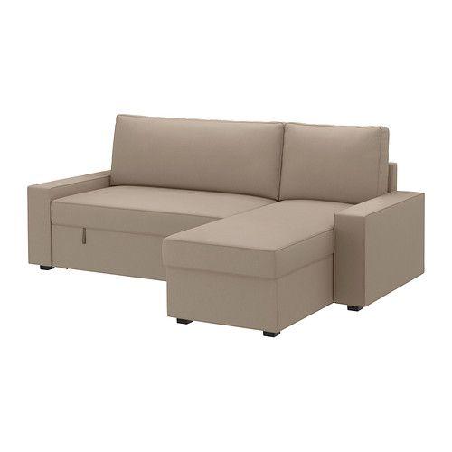 VILASUND/MATTARP Divano letto con chaise-longue - Dansbo beige ...