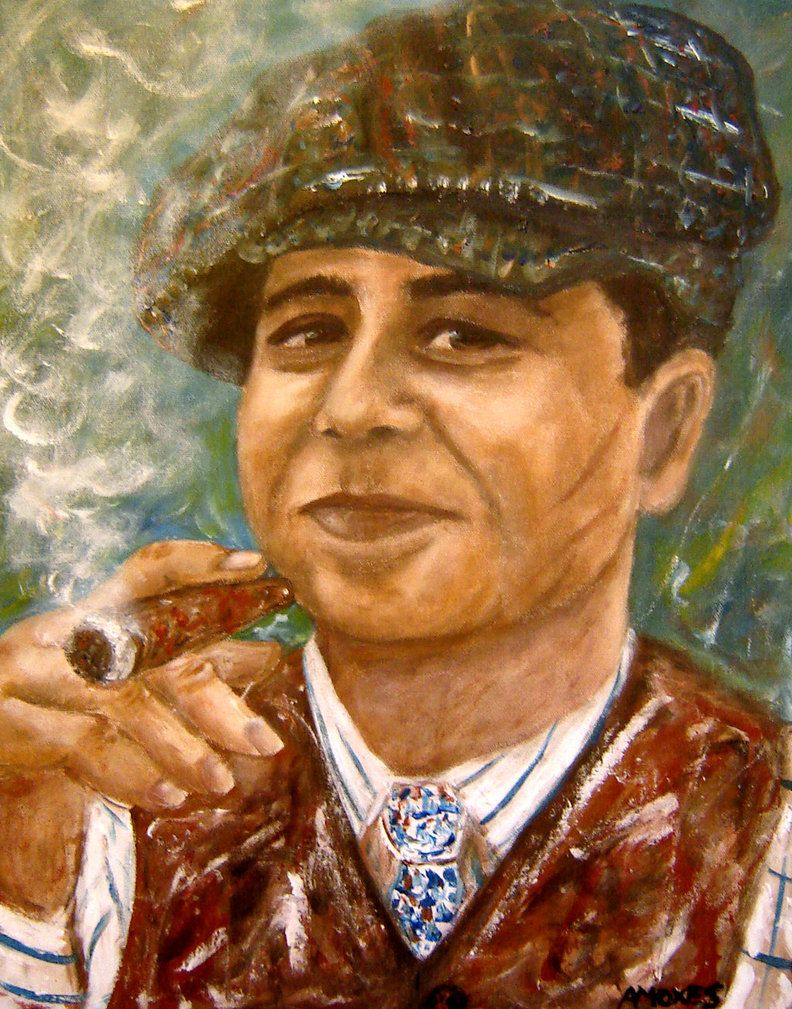 Alphonse Gabriel Al Capone (played by Stephen Graham)  acrylic on canvas 16x20 inches  You want me to do a statement ?