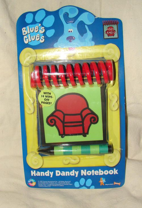 picture regarding Blues Clues Handy Dandy Notebook Printable named Blue Clues Notebooks Against eBay Initial Blues Clues Hassle-free