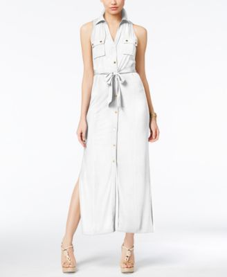 9b5d04eba86 MICHAEL KORS Michael Michael Kors Maxi Shirtdress.  michaelkors  cloth    dresses