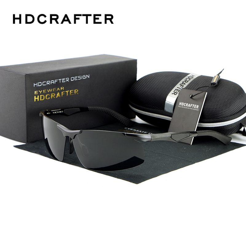 c06b85b19c8 Hot Mens Driving Half-frame Magnesium Alloy Mirror Polarized Sunglasses  Fashion Eyewear