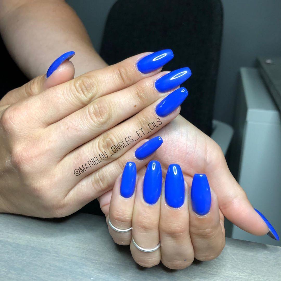 Nail Ideas nail ideas royal blue