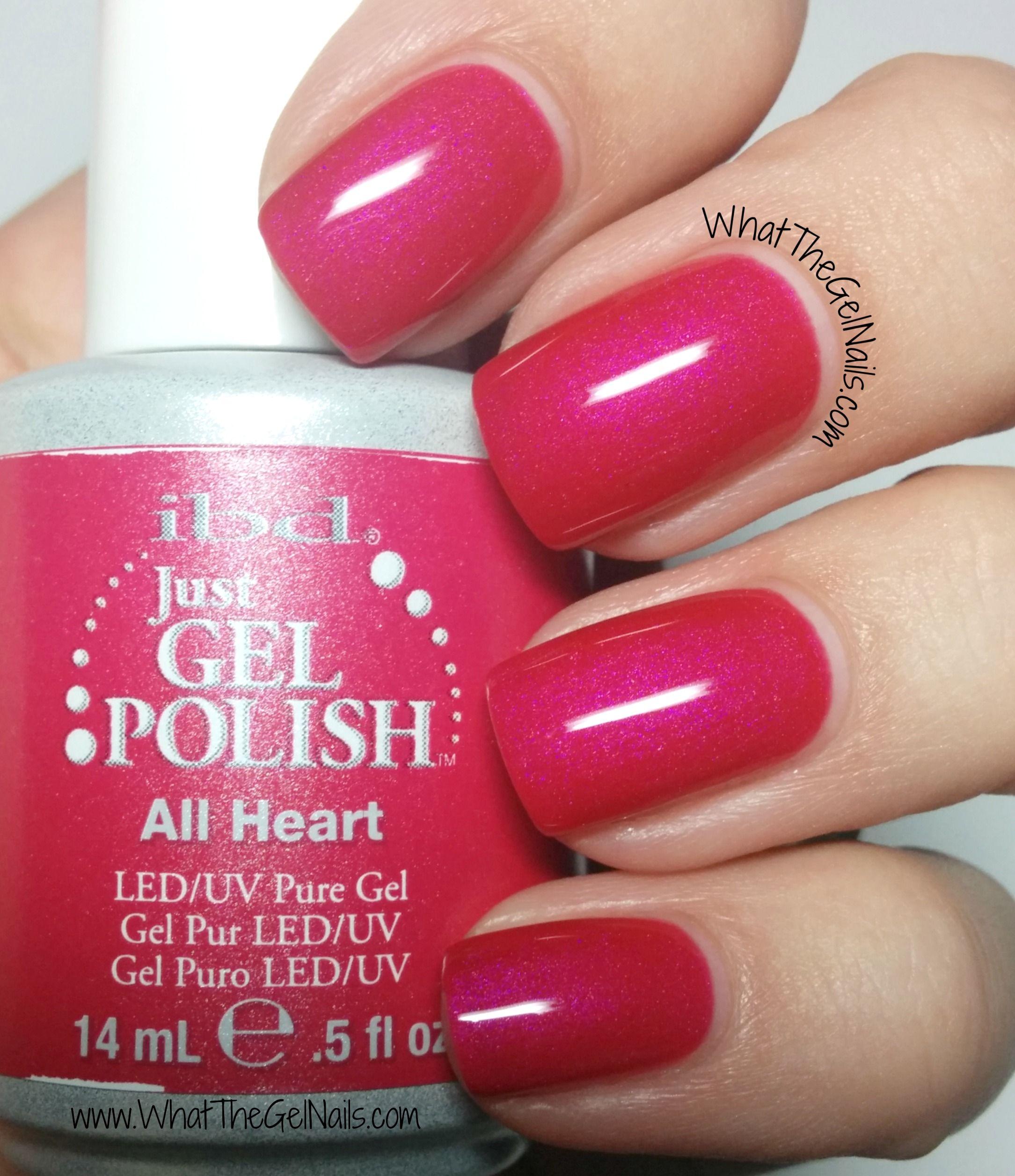 Gel Nail Polishes: IBD All Heart Plus More Pink IBD Gel Nail Polish Colors