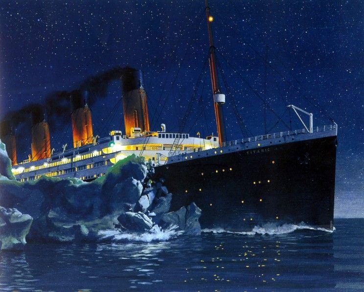 Titanic striking the iceberg | R M S  Titanic | Titanic ship, Rms