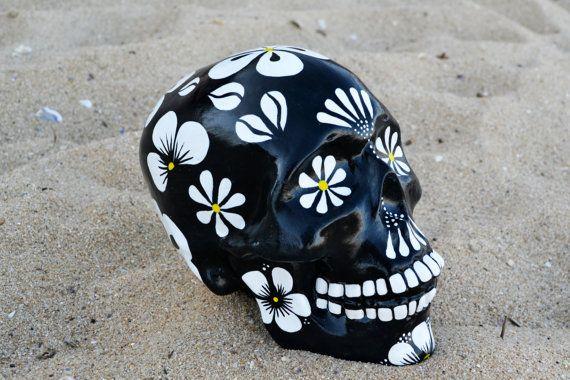 Sugar Skull Day Of The Dead Handmade Sugar Skulls Ceramic Etsy Sugar Skull Painting Sugar Skull Diy Mexican Skulls