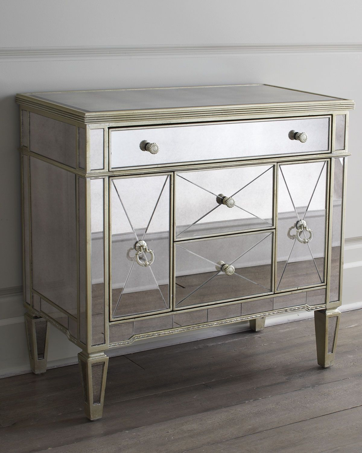 Amelie Small Mirrored Chest Mirrored Furniture Mirrored Chest