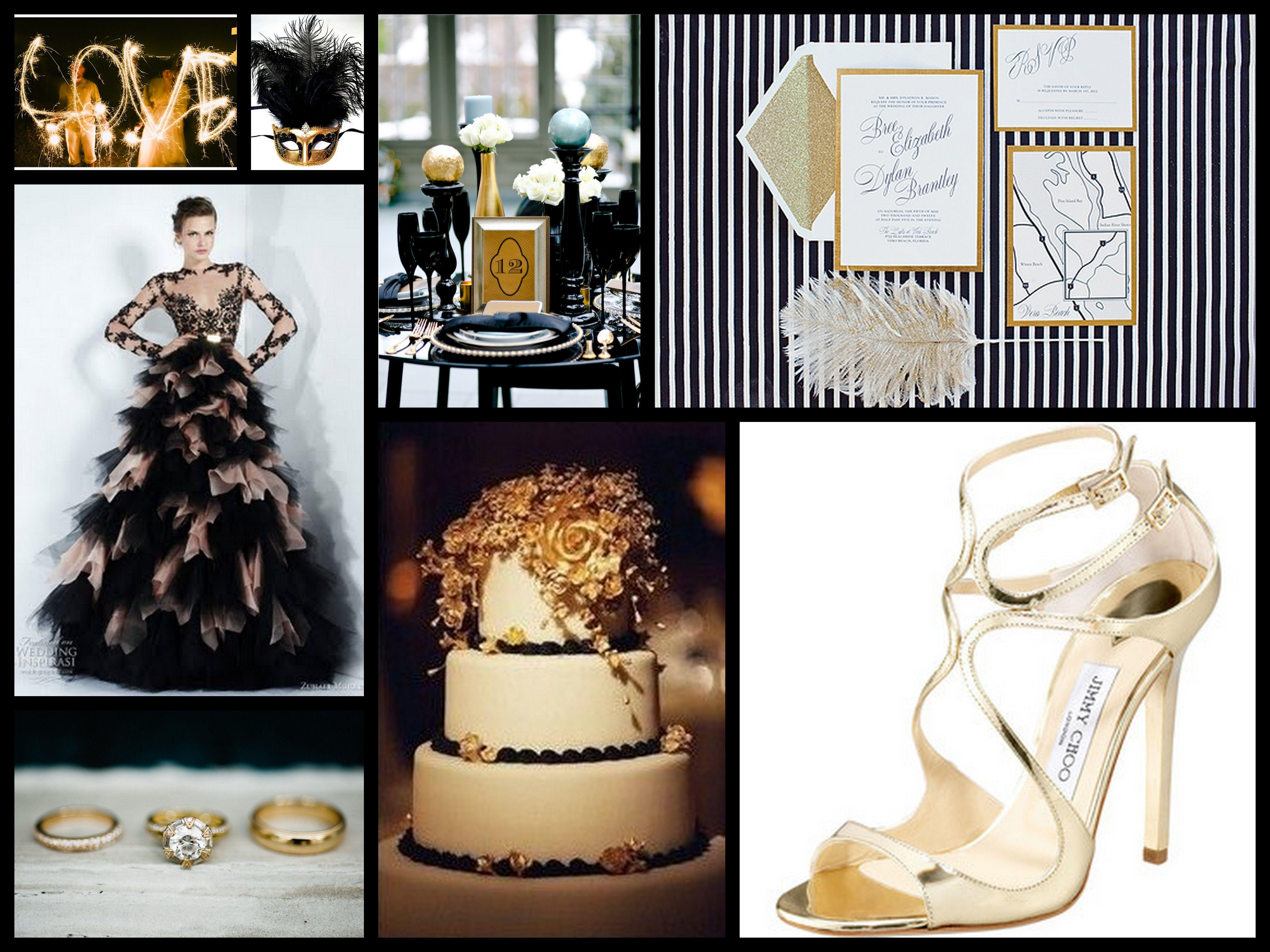 Glamorous Gold Black White Inspiration