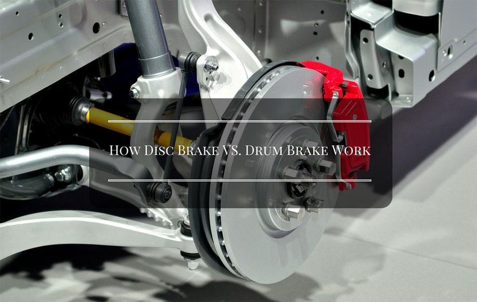 [Infographic] How Disc Brake VS. Drum Brake Work? Drum