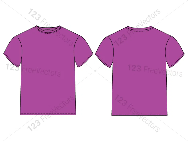 Download Men S Basic T Shirt Template Vector And Psd Pack 01 Shirt Template Basic Tshirt Shirts