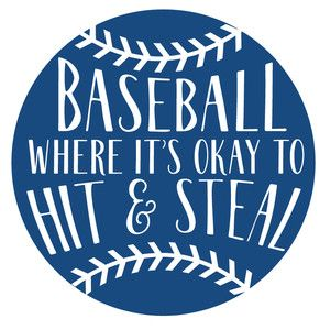 Photo of Silhouette Design Store: Baseball Where It's Okay To Hit & Steal