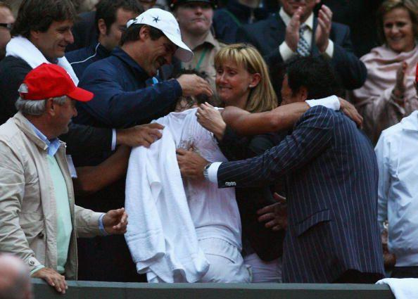 Rafael Nadal Of Spain Celebrates Winning The Championship With His Rafael Nadal The Championship Tennis Champion