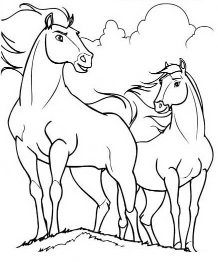 Dibujos para Colorear Spirit 1 | Dibujos para colorear para niños ...