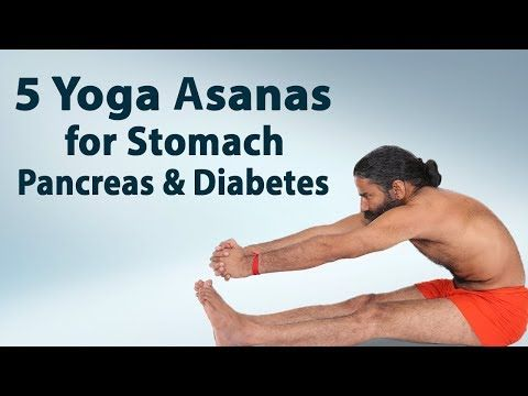 5 yoga asanas for stomach pancreas  diabetes  swami