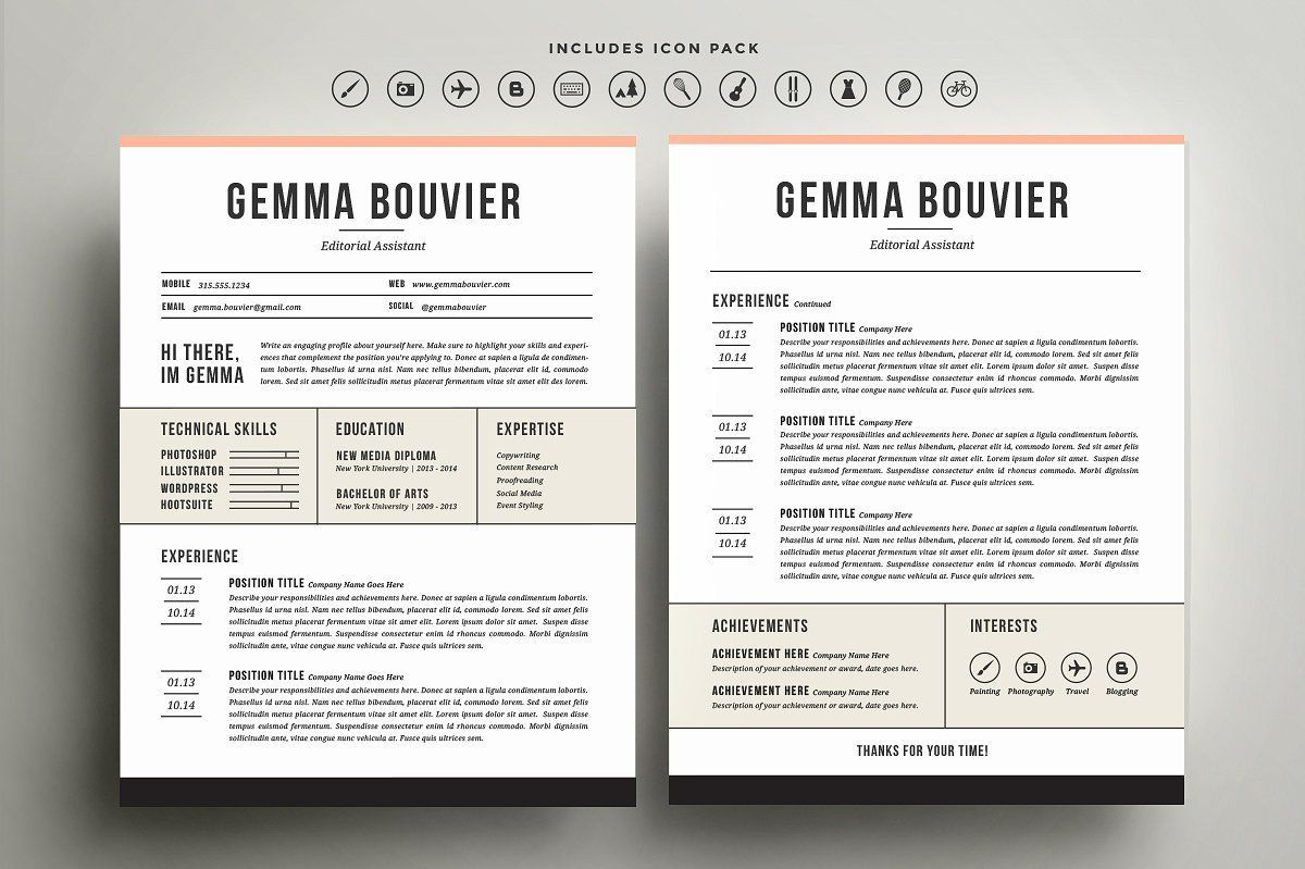 14++ Resume cover page template free Resume Examples