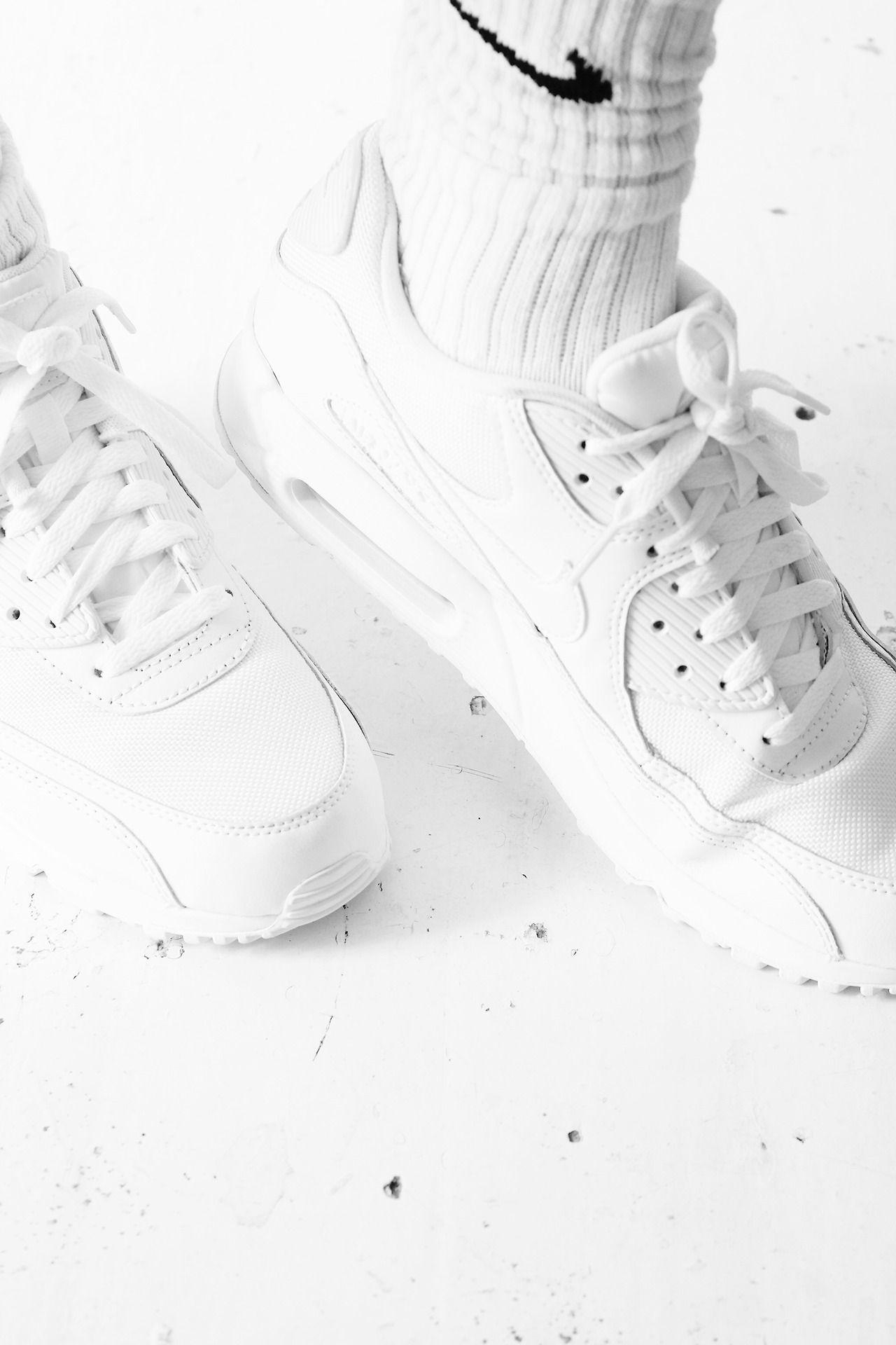 d84a3d1952834 Air Max 90 'All White' via Dejne Buy it @Amazon.com | SHOES FOR ...