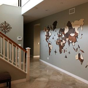 Wall Wooden Map World Map Travel Push Pin Map Rustic Home Wooden Wall Art Housewarming Gift Anniversary Gift for Husband Birthday Gift