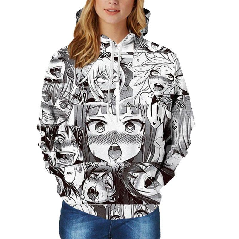 anime girl wearing sweatshirt