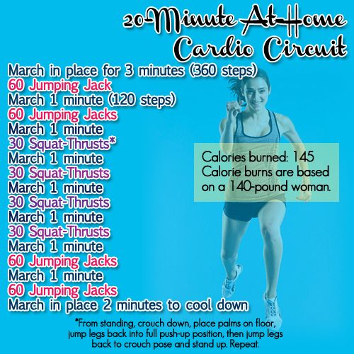20 minute at home cardio circuit