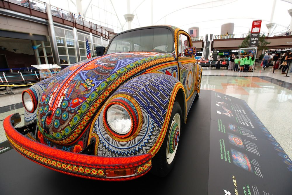 Beaded Volkswagen rolls into Denver Airport (With images