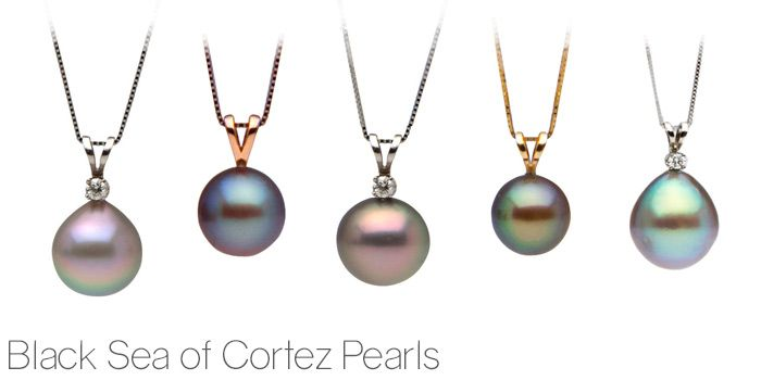 9f34e5e9c Your Ultimate Guide to Pearl Colors: Black Pearls! Sea of Cortez pearls are  the only other naturally-colored