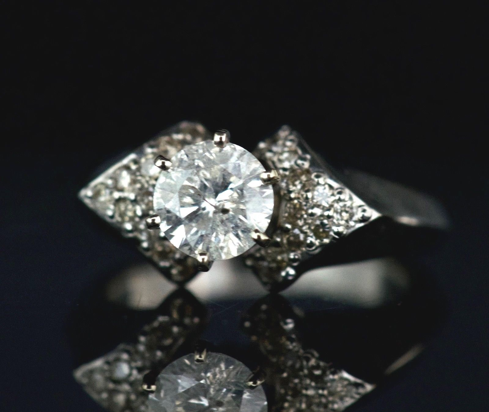 over diamond more views round ring solitaire white engagement brilliant rub set gold in