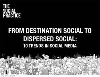 from-destination-social-to-dispersed-social-10-trends-in-social-media by The Social  Practice via Slideshare
