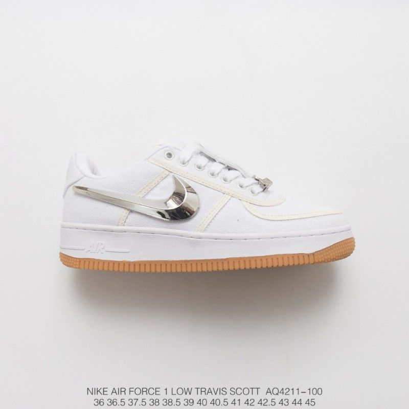 Nike Air Force 1 Low Travis Scott 3m Whole White Fishing Velcro Crossover