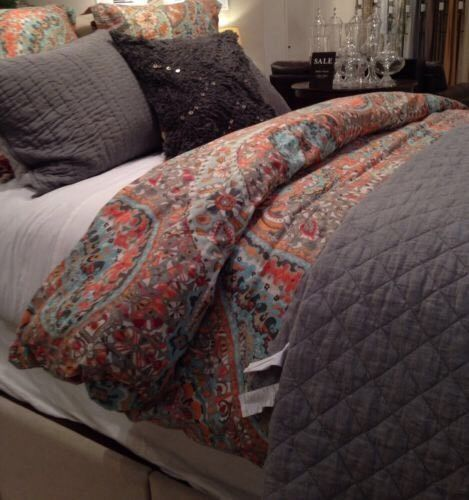 New Pottery Barn Paloma Paisley Full Queen Duvet 2