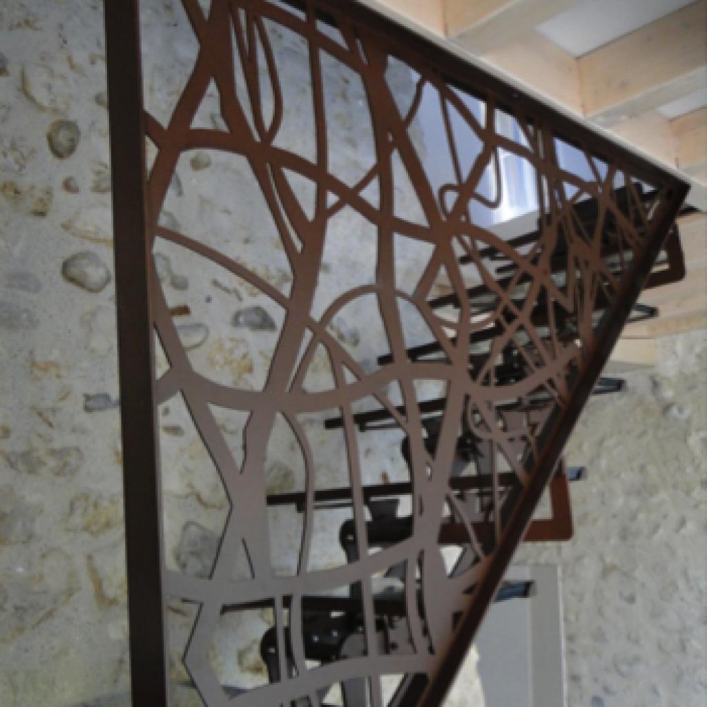 panneau sur mesure m tal design nos cr ations pinterest metal design sur mesure et panneau. Black Bedroom Furniture Sets. Home Design Ideas