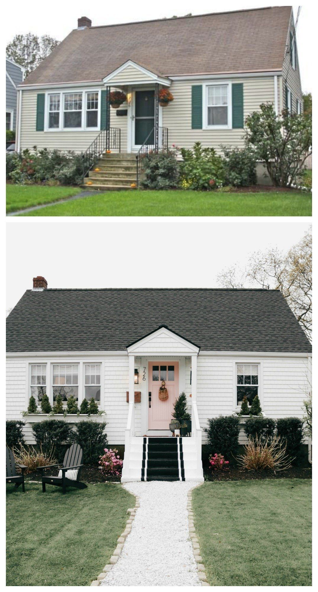 Exterior Curb Appeal-New Roof and Back Door - Nesting With Grace | Home exterior makeover, House exterior, House makeovers