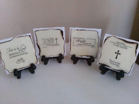 Bible scripture bible verse ceramic tile coasters custom bible scripture bible verse ceramic tile coasters custom coasters pastor gift spiritual gift cork coasters handmade coasters set of 4 negle Images