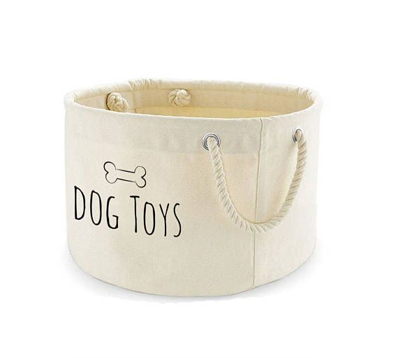 Dog Toys Basket Dog Toys Storage Bag Dog Toys Bin Dog Toys