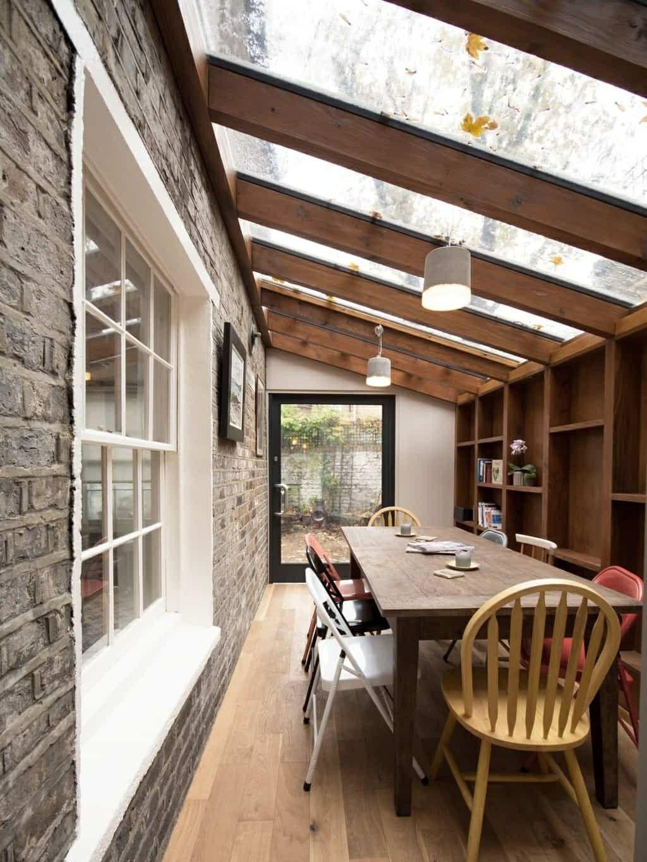 Extension avec toit en verre. | Extention maison, Extension maison, Pièces à vivre dans le jardin