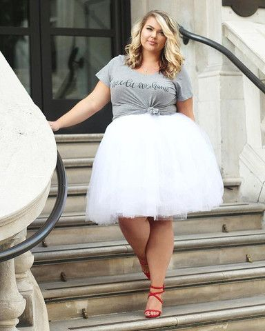 Plus Size Clothing for Women - Society+ Premium Tutu - White (Sizes 1X - 6X) - Society+ - Society Plus - Buy Online Now! - 1