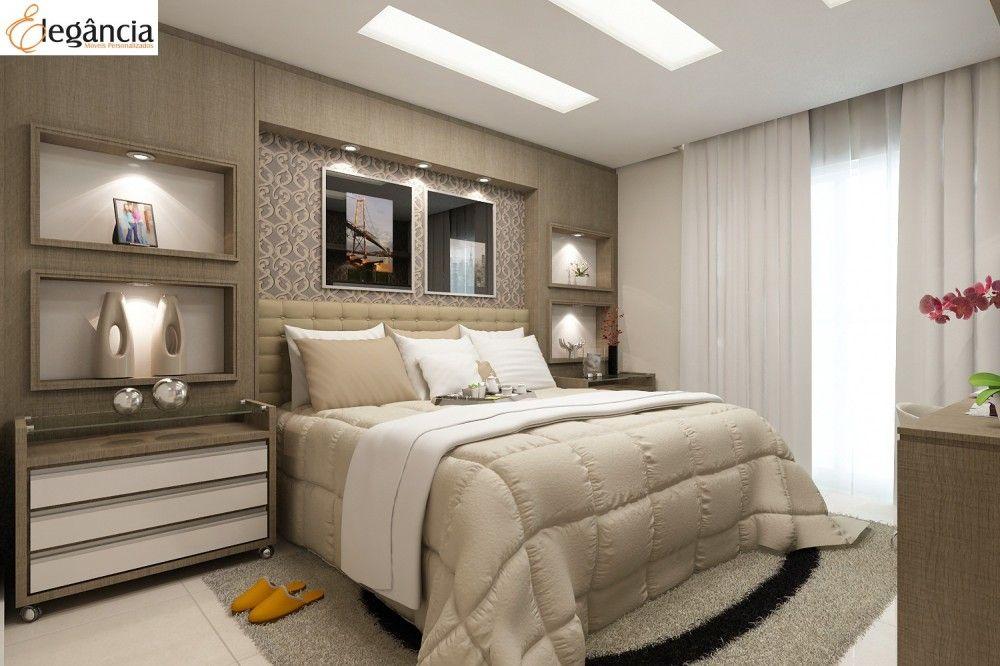 Decoraç u00e3o Quarto Casal Planejado + 1 000 Idéias para o quarto de casal pequeno, se divirta vendo  -> Fotos De Decoração De Quarto De Casal Grande