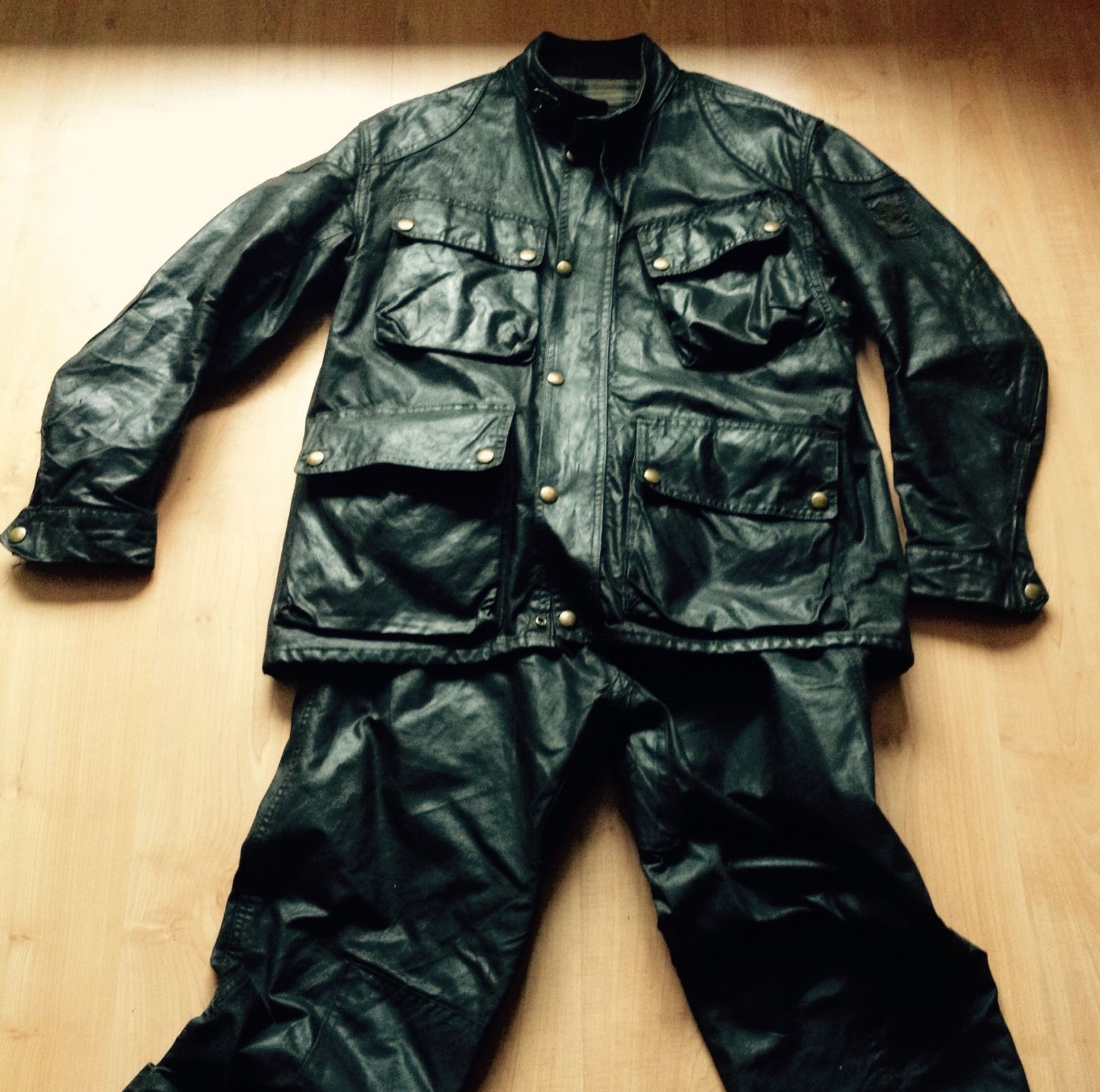 c6c8f2d889d1 Vintage Belstaff Trialmaster Wax Jacket And Trousers 108cm   42 in Clothes