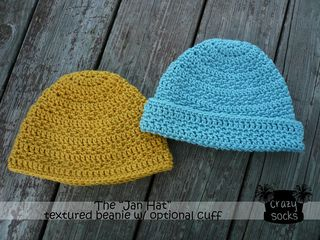 Jan Hat with optional cuff-free pattern download