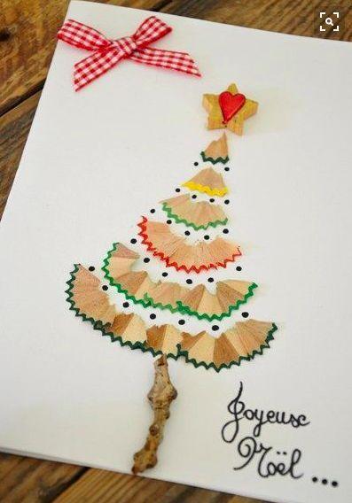 Postales de navidad diy ninos
