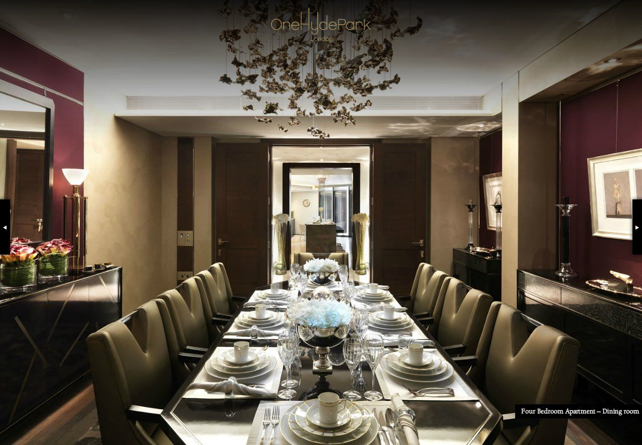 Candy Candy Interior Design One Hyde Park London Dinning Room