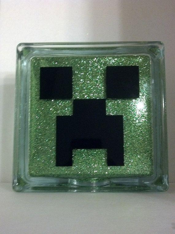 e62973e88421d Items similar to Minecraft Creeper Glass Block Display Piece - Free ...