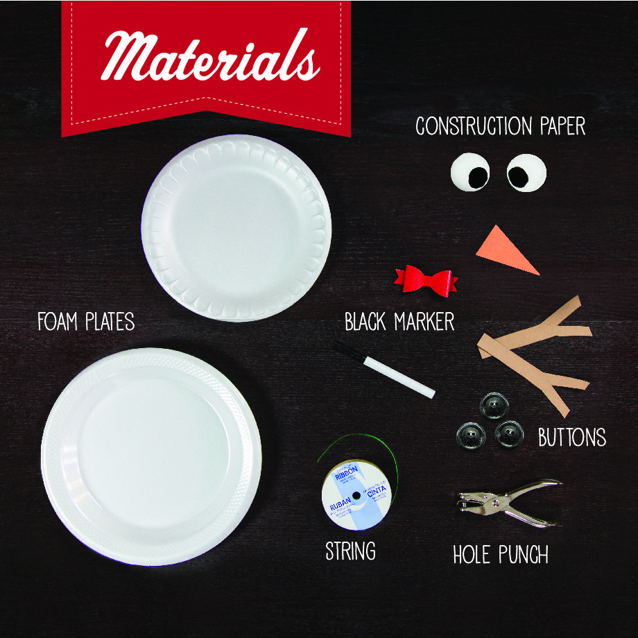 Make a snowman inside! Just get these materials together and start crafting. This is a great activity for kids over the holidays.