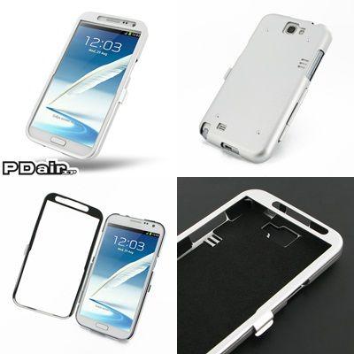 PDair Aluminum Metal Case for Samsung Galaxy Note II GT-N7100 - Open Screen Design (Silver)