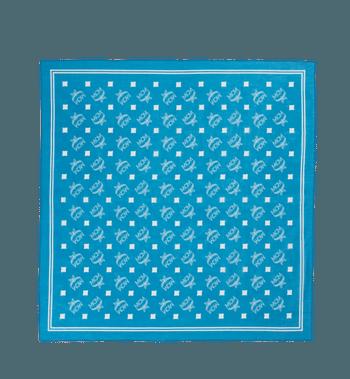 One Size Visetos Print Bandana Scarf Spectrum Blue Mcm Bandana Print Bandana Scarf Monogram Prints