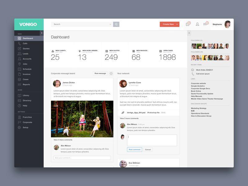 dashboard layout design