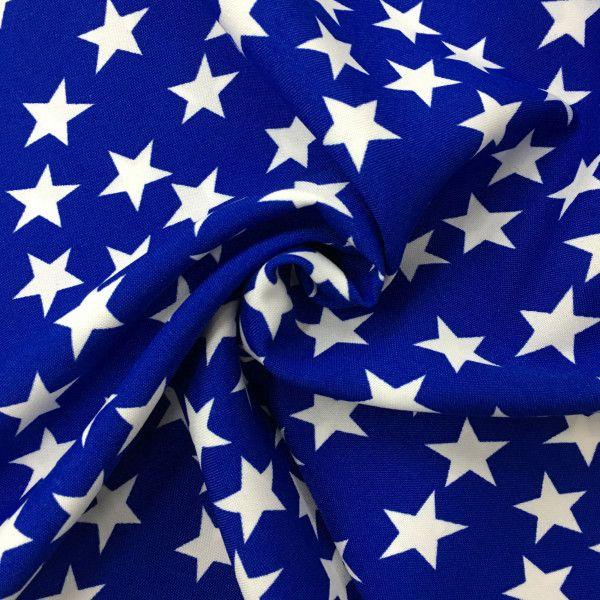 Tessuto Carnevale Stella Blu Panini Tessuti Tessuto Carnevale fantasia su  sfondo blu con stelle bianche 4b1ab436b84