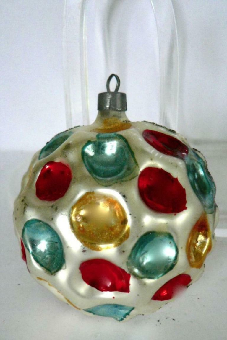 Vintage 2 5 Dimple Multi Color Crater Christmas Ornament Christmas Ornaments Vintage Mercury Glass Christmas Ornaments Christmas Bulbs